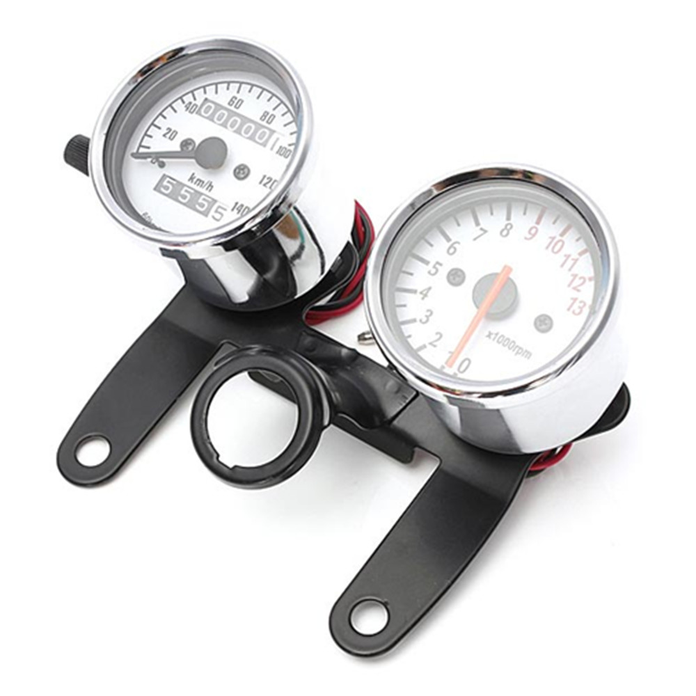 Motorcycle Odometer Tachometer Speedometer Gauge with Black Bracket/Motorcycle speedmeter hot selling(China (Mainland))