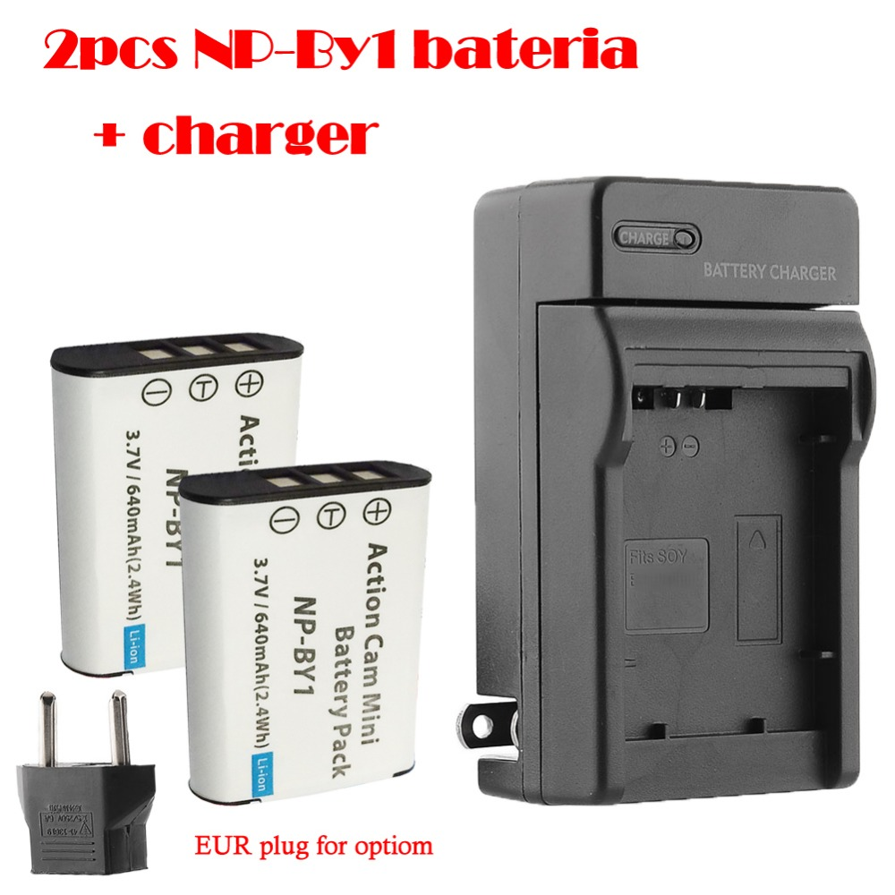 NP-BY1 np by1 battery + bateria charger Sony HDR-AS100v,HDR-AZ1,AZ1VR,AZ1VB,AZ1VW.Mini Video Camera DV accessory - H_K Gotrange Elec. Co.,LTD Store store