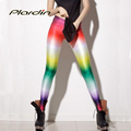 Plardin 2016 Summer Women Pants HOT SEXY New Fashion For Sexy Women Rainbow Leggings Shiny MilkDigital