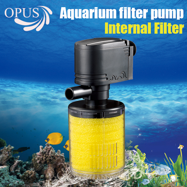 12w 4pcs 3 in 1 built in filter oxygen pump with cotton for Fish tank with built in filter
