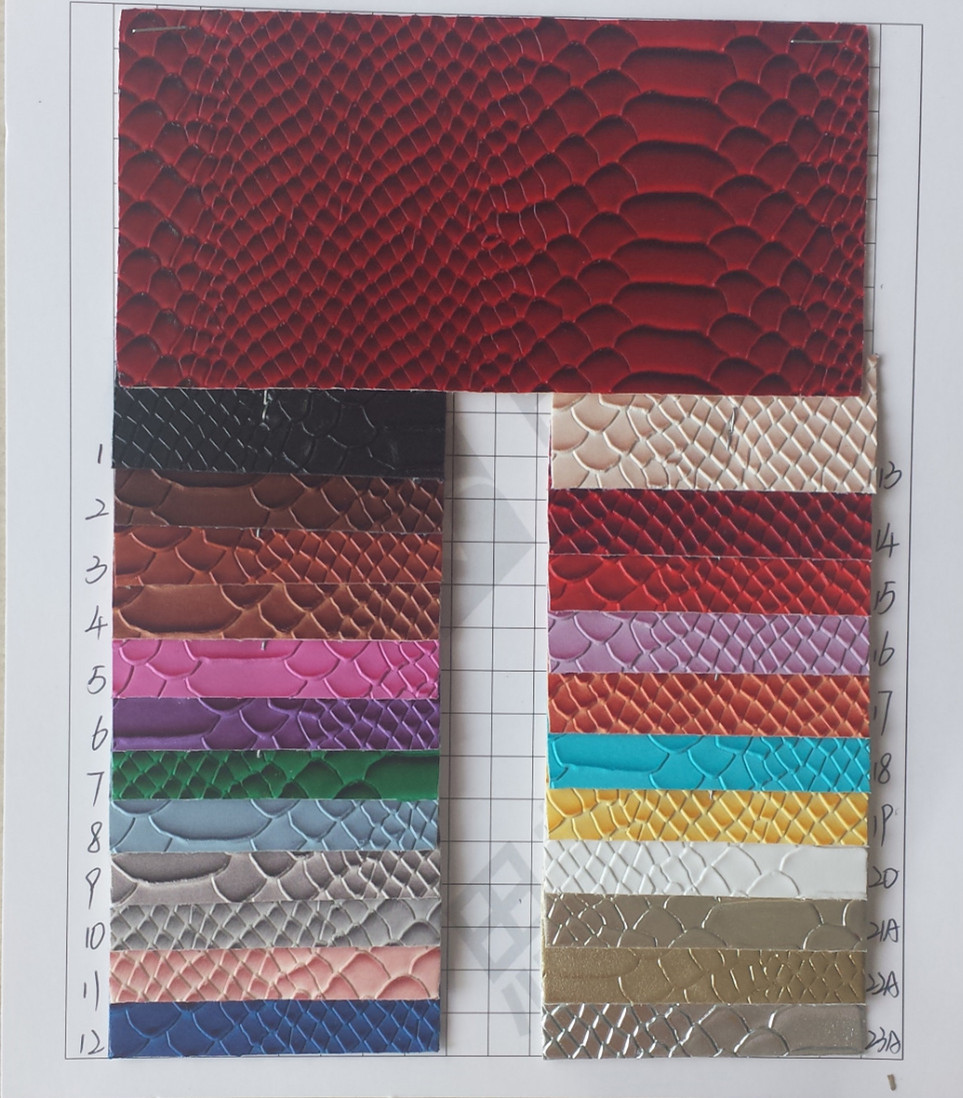 1.35mm thick/ wholesale/ yellow snake leather/ high quality synthetic PVC leather/ snakeskin fabric/ snake leather fabric(China (Mainland))