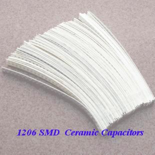 FREE SHIPPING SMD 1206 Ceramic Capacitors 1pF-1uF Chip Capacitors 49Valuesx50pcs=2450pcs, Sample kit