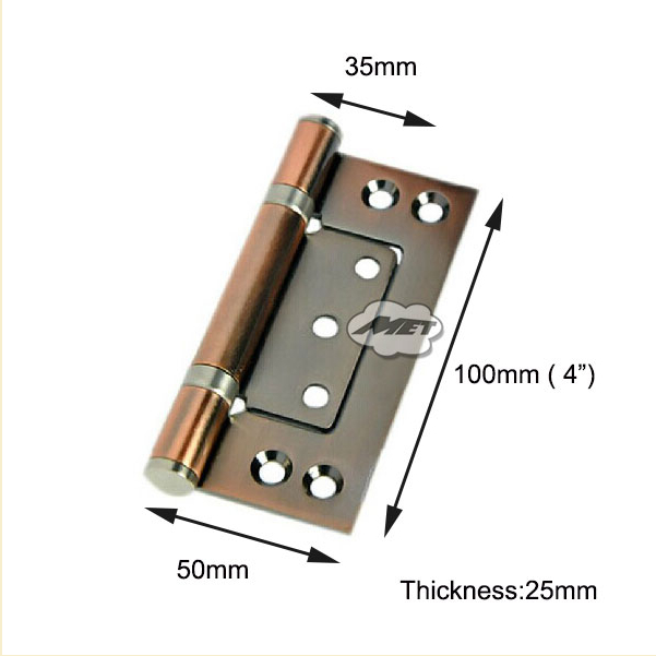 """2 Pc 4"""" 10cm Brushed Satin Stainless Steel Kitchen Cabinet Door Flush Hinges new(China (Mainland))"""
