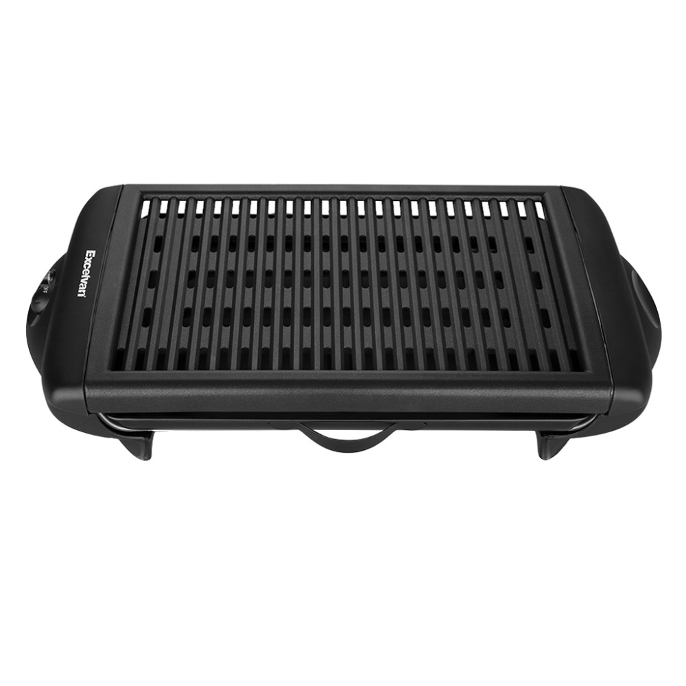 Indoor Barbecue Family BBQ Grill Electric Grill Stainless Steel Oven Non-stick Surface Ribbed Grill Style 1120W UK US EU Plug(China (Mainland))