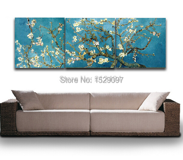 Framed!!! Wall Art Blossoming Almond Tree By Van Gogh Oil Painting Home Decoration(China (Mainland))