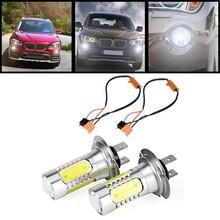 Buy 2PCS Xenon Blanc LED Feux anti-brouillard Phares Feux stop Feux arriere inverser la lampe Auto Ampoules adapter pour H7 11W for $22.40 in AliExpress store