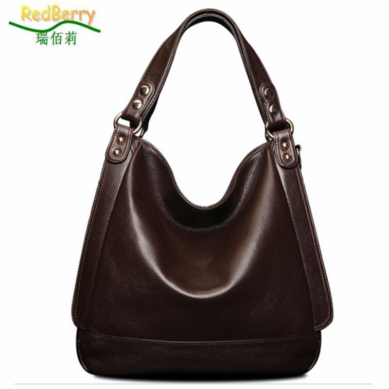 Hot 2015 women handbag genuine leather bag fashion vintage shoulder bags large cowhide real animal bolsas messenger - REDBERRY HANDBAGS Store store