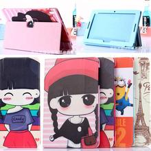 2015 Newest Lovely Cute Cartoon Case PU leather Cover for Lenovo IdeaTab 10.1 A10-70 A7600 A7600-h / A7600-f  Case
