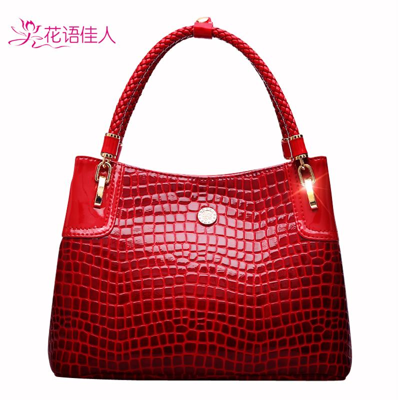 Florid 2014 women's handbag fashion crocodile pattern handbag bag one shoulder women's handbag