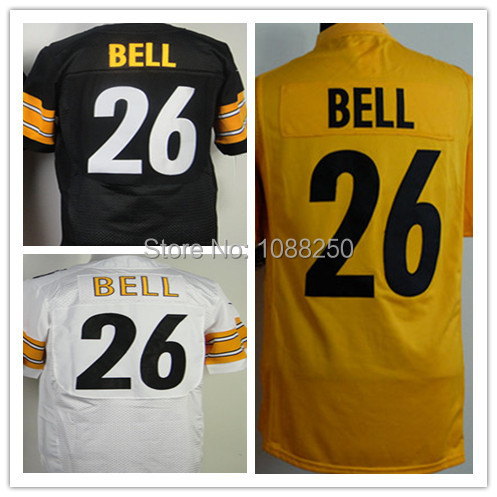 Men's Stitched Pittsburgh 26 LeVeon Bell Jersey,American Football Jersey,Mens Elite Black White Orange Fast Free Shipping(China (Mainland))