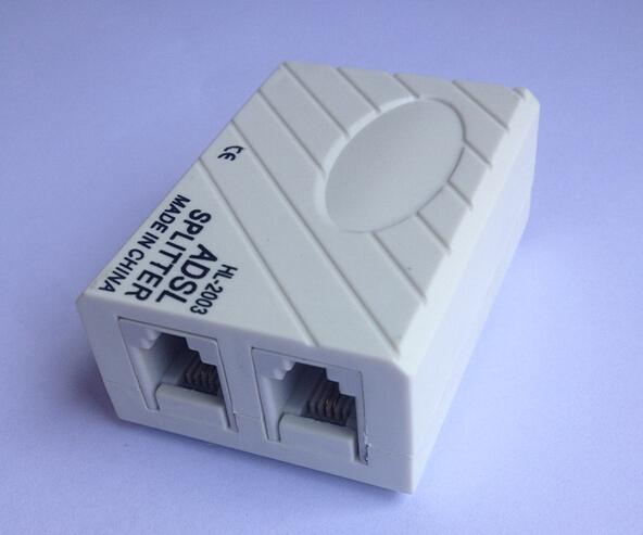 DZ76 Telephone Phone Fax Network RJ11 Cable ADSL Modem Micro Filter Splitter(China (Mainland))