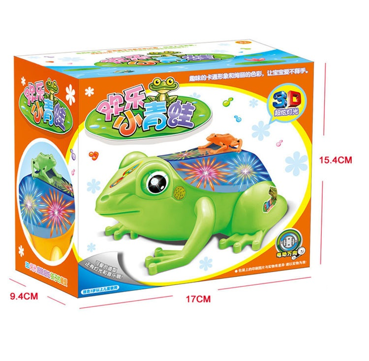 2016 Strange new electronic toy Cute Frogs Universal rotation with light music Electronic pet Baby toys Gifts for kids(China (Mainland))