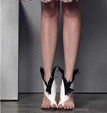 Summer Newest stylish elegant white/black contrast color tassel women shoes cut-outs design pinch toe stiletto summer sandals