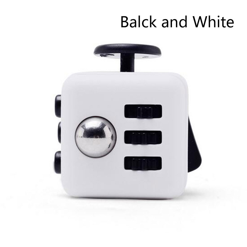 Fidget Cube Squeeze Fun Stress Reliever Adult Toy Puzzle Toys 11 Colors Magic Cubes And Box TM0061