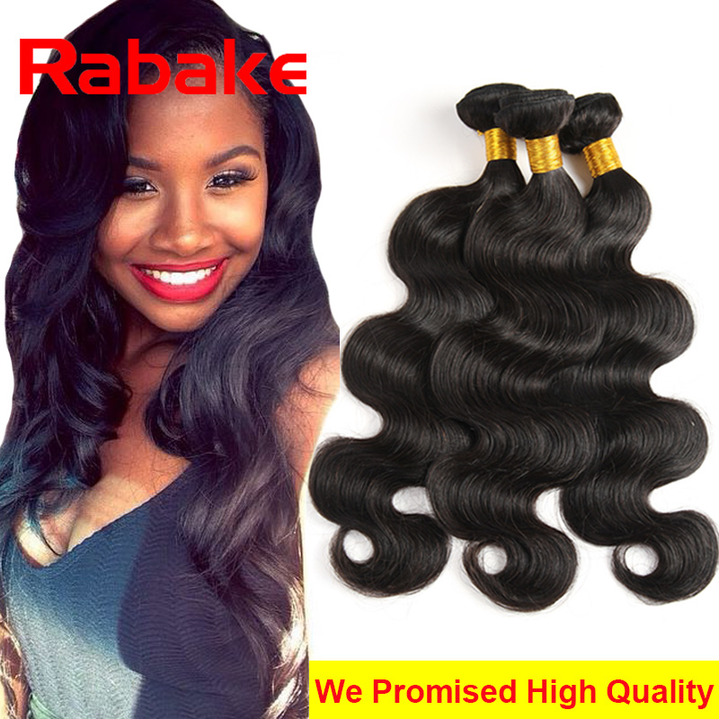 3Pcs Unprocessed Brazilian Virgin Hair Body Wave 7A Brazilian Hair Weave Bundles 100g Human Hair Extensions Grace Hair Products(China (Mainland))