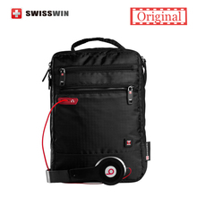 Swiss Shoulder Bag Small Messenger Bag for Tablets and Documents Men's Black swissgear wenger Handbag 11-inch