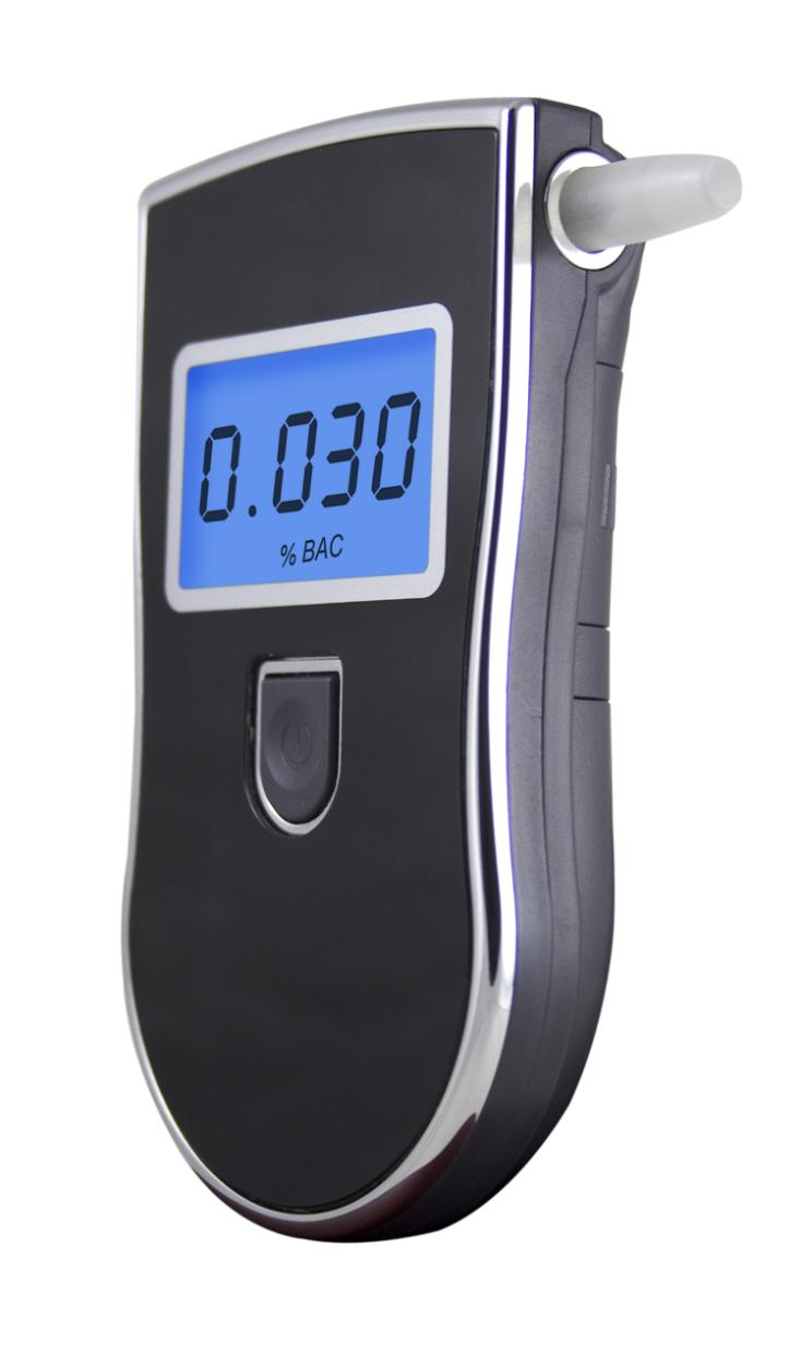 personal Digital Breath Alcohol Tester with 5 mouthpiece MCU controlDigital LCD display with light blue backup AT818(China (Mainland))