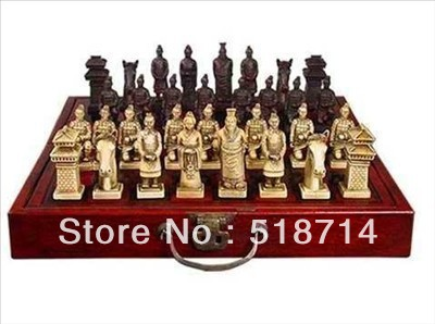 Rare A set of Asian old chess 32 pieces game(China (Mainland))
