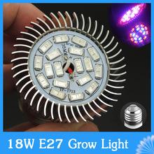 Full Spectrum LED Grow Light 18 W E27 SMD 5730 18 LEDs por efecto invernadero planta con flores y el sistema de hidroponía creciente caja(China (Mainland))