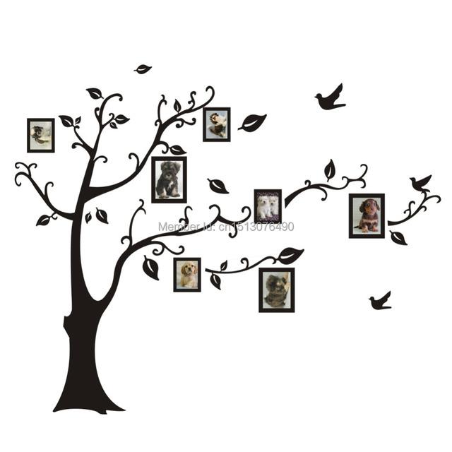 Стикер стены бесплатная доставка : горячая распродажа фотография дерево стены надписи DIY украшения мода винил клей стикер прямая поставка
