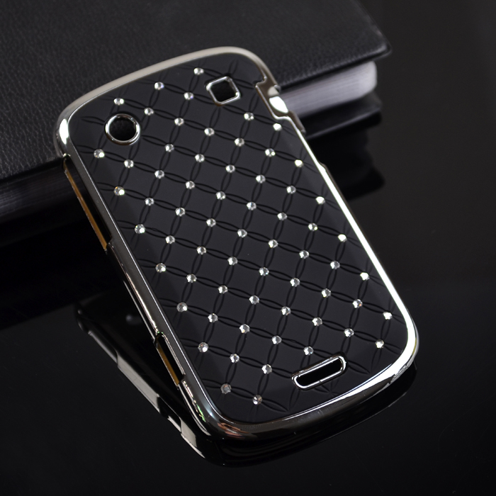 Diamond Bling Luxury Plating Protector Cover Hard Case For Blackberry 9900 9930(China (Mainland))