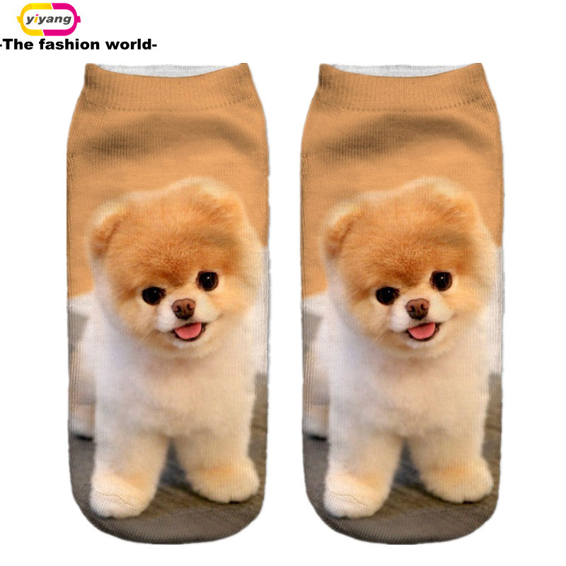 3D Printed Socks Women New Unisex Cute Low Cut Ankle Socks Multiple Colors Women Sock Women