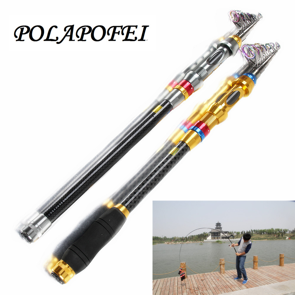1.8~3.6m Portable Hard Fishing Rod Carbon Sea Rod Fit For Shimano reel Peche Feeder Spinning Fly Pole Carp Tackle pesca E242(China (Mainland))