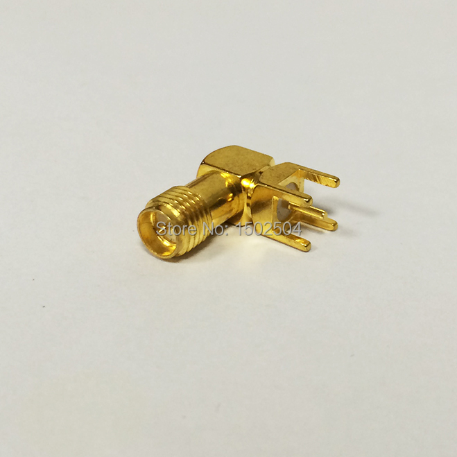RP-SMA Female Jack Nut RF Coax Connector PCB  Right Angle  Goldplated  NEW wholesale<br><br>Aliexpress