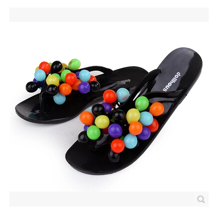 2014 hot sale fashion cute  grapes summer beach slippers flat shoes flip   candy colored jelly sandals and slippers 41size<br><br>Aliexpress