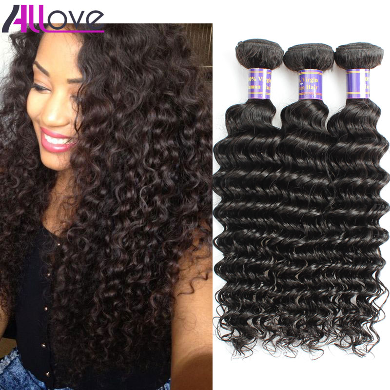 Malaysian Deep Wave Hair Unprocessed Malaysian Hair 3Bundles Allove Human Hair Extensions7A Malaysian Virgin Hair Deep Wave(China (Mainland))