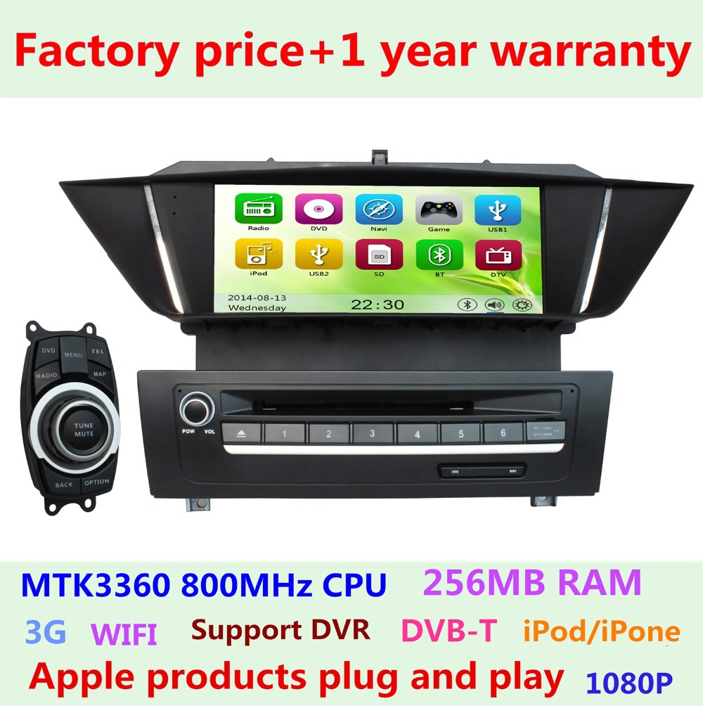 Factory Price Touch Screen Car DVD Radio Player for BMW X1 E84 2009 2010 2011 2012 2013 Stereo GPS Navigation 3G WIFI Ipod USB(China (Mainland))