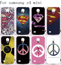 Custom Phone Covers For Samsung Galaxy S4 mini I9190 Cases Superman America Captain Medal Plastic and Silicon Phone Protective
