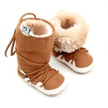 winter soft warm shoes baby boots new born baby walker(China (Mainland))