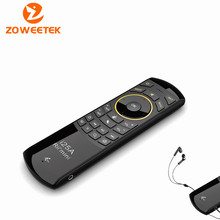 Original Rii i25A Russian   Layout 2.4Ghz Wireless Mini Air Fly Mouse Keyboard with IR Remote Learning and Earphone Jack