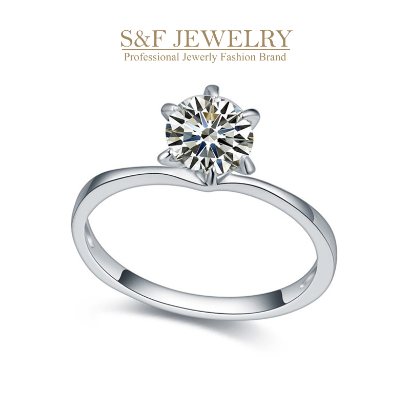crystal from Swarovski ELEMENTS women rings Anniversary gift Romantic White Gold geometric Cubic Zirconia rings for girl 18972(China (Mainland))