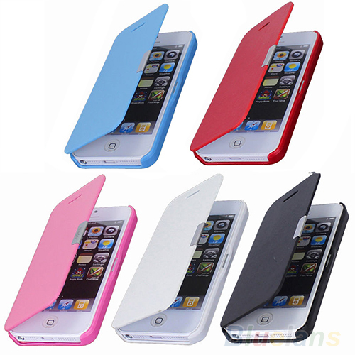Magnetic Flip Leather Hard Skin Pouch Wallet Case Cover For Apple iPhone 5S 5G phone cases 08E9(China (Mainland))