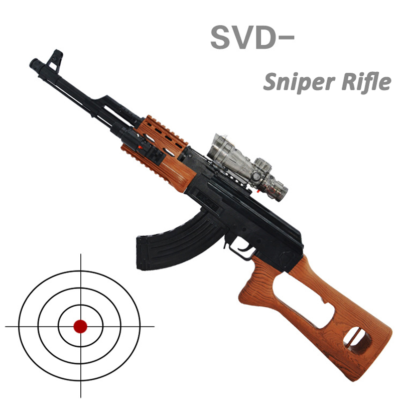 SVD Sniper Rifle Plastic Toy Gun Simulation Arma Arme Orbeez Toys Sniper Rifle Water Gun Soft Bullets Children Birthday Gifts(China (Mainland))