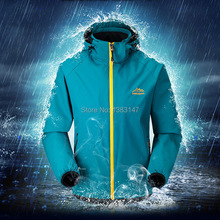 Outdoor high quality water-windproof camping hiking thin men's jacket for spring,men's rain jacket windreaker style size L-5XL(China (Mainland))