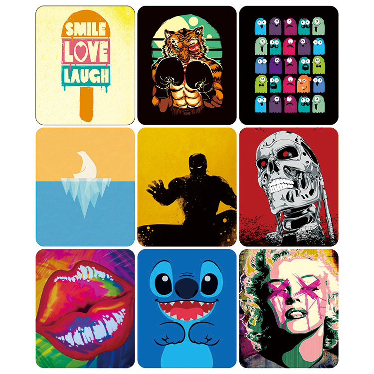 Art Creativea Mouse Pad SMILE LOVE LAUGH Tiger Polar bear Gaming mouse mat size 240X200X3mm poster Mouse Pads Mat FreeShipping(China (Mainland))