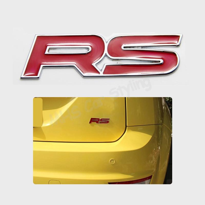 RS Highly Polished Aluminum Silver Chrome Car Truck Engine Swap Badge Nameplate Emblem(China (Mainland))