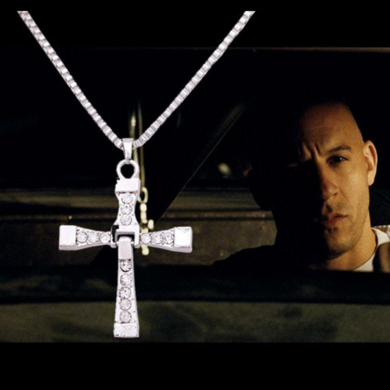 2016 New Cross Jewelry Furious Bijoux Collar Necklaces Pendants Filmes Fast Furious Cross Necklace Toretto Cross Vintage Pendant(China (Mainland))