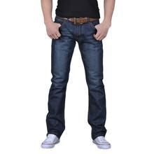 Feitong 2018 Trabalho Ocasional dos homens Outono de Algodão Denim Hip Hop Soltas Calças Compridas Calças Jeans calças de brim dos homens calças slim fit #30(China)