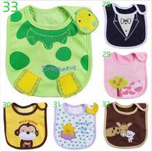 Hot 1pcs Newborn Toddler Infant Waterproof Baby Bib Saliva Towel Feeding Comfort Soft Animal Pattern(China (Mainland))