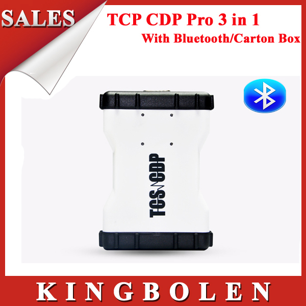 2015 NEW Design TCS CDP+ PRO PLUS Scanner With Bluetooth With Keygen in CD 2013.3 Software+Carton Box DHL Free Shipping(China (Mainland))