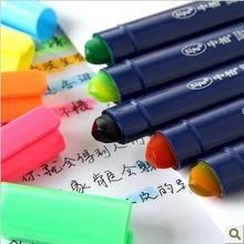 Highlighter creative cute solid jelly pen, marker crude oil graffiti,marcador de livro,crayon,chalk pens,libros,pen stabilo(China (Mainland))