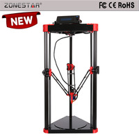 Auto Leveling Delta 3d Printer Large Printing Size Reprap Kossel Delta 3d Printer DIY Kit with HotBed 8GB SD Card Free shipping