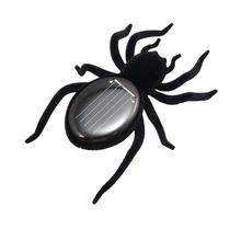 NEW Children Solar Spider Tarantula Educational Robot Scary Insect Gadget Trick Toy(China (Mainland))