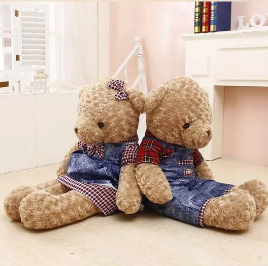 90 cm 1PCS Teddy Bear Plush Toy giant teddy bear 2style free choose high quality(China (Mainland))