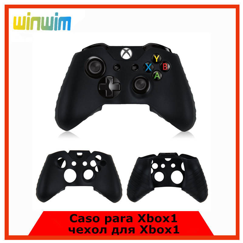 Durable Black Color Protective Protect Silicone Gel Rubber Case Skin Grip Cover For Microsoft Xbox One Xbox1 Controller(China (Mainland))