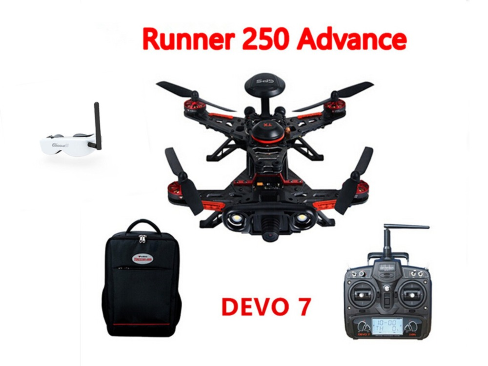 F16183 Walkera Runner 250 Advance GPS System Racer RC Drone Quadcopter RTF with DEVO 7 Transmitter /OSD /Camera /GPS/Goggle 2